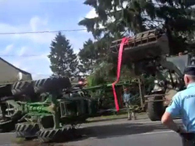 Accident de tracteur entre Avesnes et Sars-Poteries