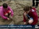 Concours de châteaux de sable à Cabourg