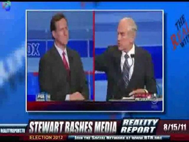 Jon Stewart: 'Media Pretending Ron Paul Doesn't Exist!' 8-15-11