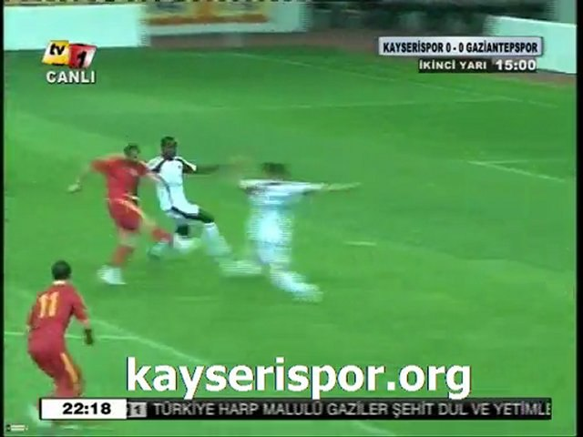 Kayserispor.org:Kayserispor 1-0 Gaziantepspor