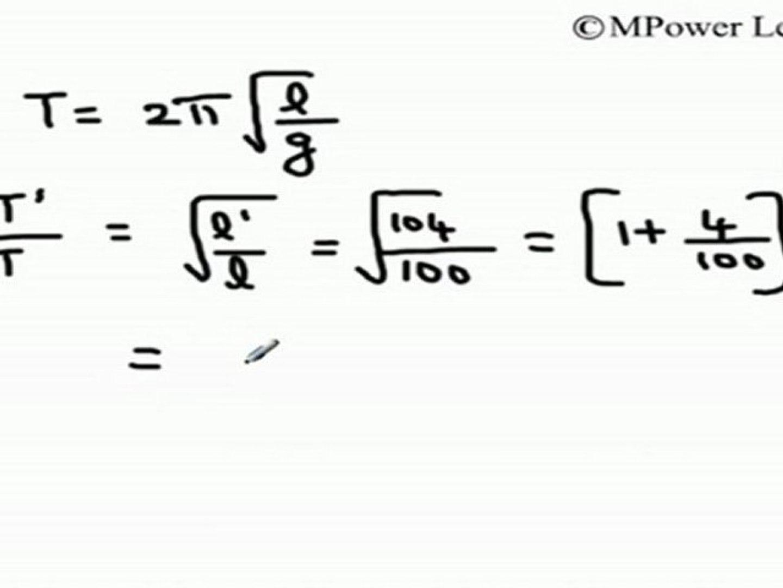 Oscillations - Time Period of Simple Pendulum - 2