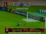 Sporting - 3 Marítimo - 0 de 1996/1997 - golo Afonso Martins