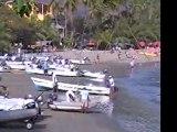 Beach boats, Acapulco, Mexico