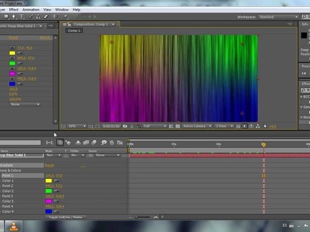 Fondo abstracto de 4 colores - Tutorial After Effects