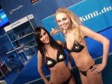 GamesCom 2011 booth babes video