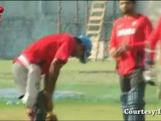 MS Dhoni and his Team get NO Practice
