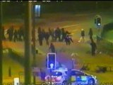 Footage shows rioters shooting at police