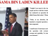 Osama Bin Laden Shot Dead in Pakistan