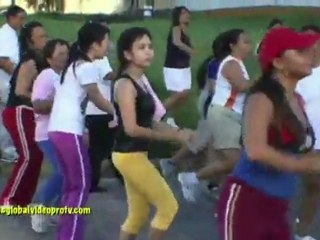 ZUMBA DANCE CRAZE IN CEBU, PHILIPPINES, WITH INSTRUCTOR EMMA.