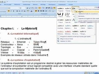Changer le style d'un niveau de paragraphe dans Microsoft Word 2010