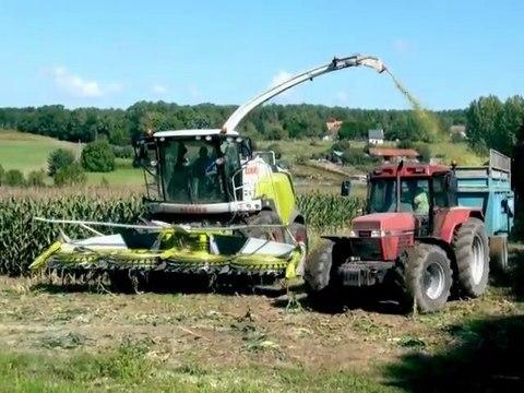 Ensilage du maïs en Sarthe