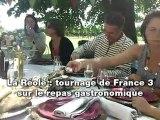 La Réole : le repas gastronomique filmé par France 3
