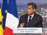Discours de N. Sarkozy aux calédoniens