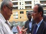 François Hollande rencontre les habitants de Saint Ouen