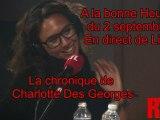 A la Bonne Heure du 02 Septembre : La chronique de Charlotte Des Georges