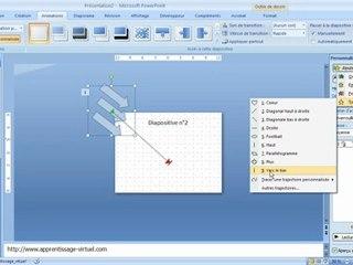 Visionnez les Cours Vidéo de 3 - 3 D�placer Animer les objets dans Microsoft Powerpoint