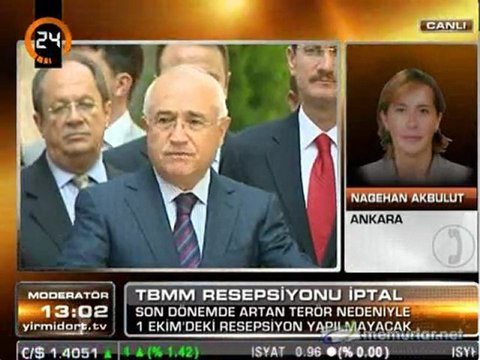 Meclis resepsiyonu iptal edildi