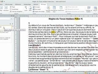 Fonction volet de navigation dans Microsoft Word 2010
