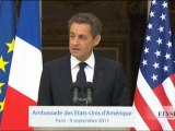 10e anniversaire du 11 septembre 2001 - discours de N. Sarkozy