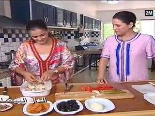 chhiwat bladi 2m tv casablanca choumicha 2012 - pastilla, cuisse de poulet, tajine tomate caramélisée