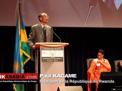 Paul Kagame en France avec la diaspora