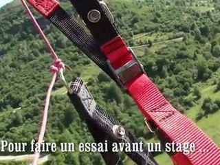 Vol en parapente avec l'école  Kymaya
