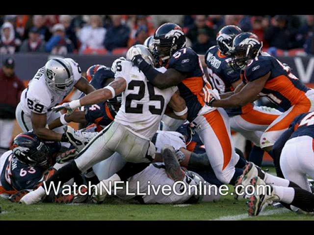 watch nfl Denver Broncos vs Oakland Raiders live streaming