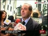 """TG 07.05.10 Di Pietro da Bari: """"Vendola non pensi alla leadership ma alla Puglia"""""""