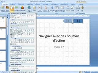 Visionnez les Cours Vidéo de Boutons d'action dans Microsoft Powerpoint