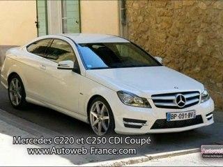 Essai Mercedes Benz  C220 CDI et C250 CDI Coupé - Autoweb-France