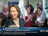 itw Ségolène ROYAL suite au premier débat pour la primaire des candidats PS + RDG