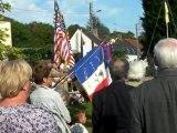 Cérémonie inauguration monument Franco Américain de Choisy au bac (Oise) 01.09.11