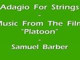 Samuel Barber - Adagio For Strings - Version Piano Solo