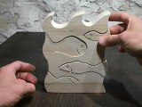 puzzle de poissons jouet en bois massif créé en france cadeau original et artisanal