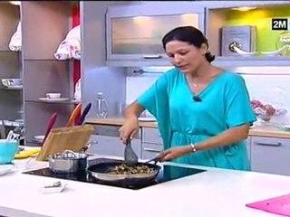 Choumicha Recettes - Tajine de Poulet aux aubergines et noix