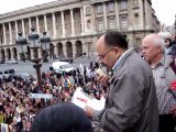 Mustapha Znaidi au rassemblement de soutien à Troy Davis, à Paris (21/09/2011)