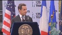 Évènements : Discours de Nicolas Sarkozy devant la Statue de la Liberté