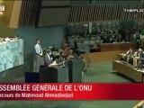 Mahmoud Ahmadinejad - discours à l'O.N.U.