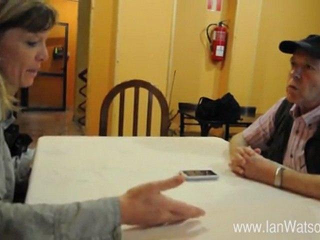 Ian Watson interviewed by Stefanie Müller during the Semana Negra 2011 in Gijon, Spain