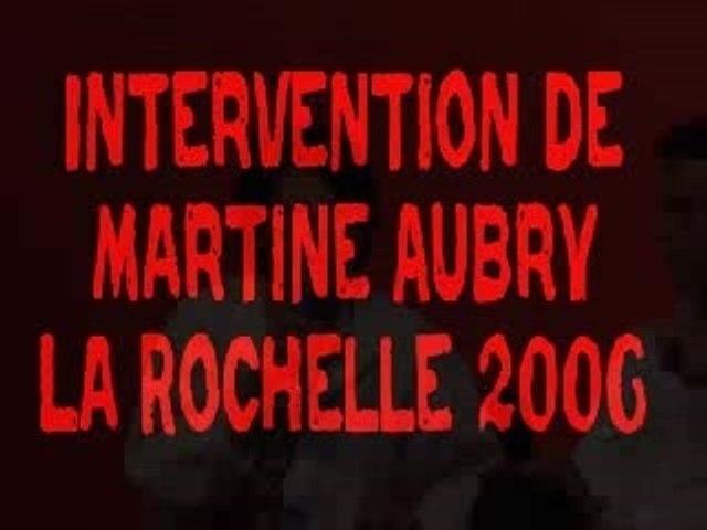 Intervention MARTINE AUBRY