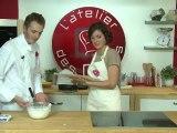 Cours Live de l'atelier des chefs du 29 septembre : Tarte sablée, Cheese-cake straciatella et coulis de fruits rouges