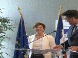 Passation de pouvoirs entre Chantal Jouanno et David Douillet