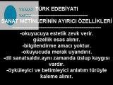 edebi eserin genel özellikleri ve sanat metinlerinin ayırıcı özellikleri videosu izle,yılmaz yapım türk edebiyatı videoları izle videolu anlatım,edebi eser edebi metin nedir videosu izle,yılmaz bahadır ders videoları izle,yılmaz yapım izle