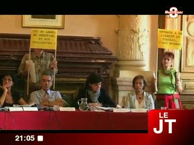 Manifestations des artistes au conseil municpal (Chambéry)