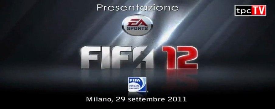 FIFA12 Presentazione ufficiale EA a Milano con Giampaolo Pazzini