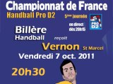 Handball ProD2 Billère Handball / SVM Vernon St Marcel