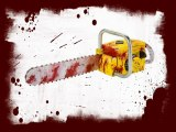 Realistic Animated Bloody Chainsaw Halloween Prop