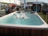 Mieux que Camille Lacourt et Alain Bernard : voici Camille Bernard dans un spa de nage Clair Azur !