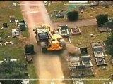 DIGGER DESTRUCTION: Man rampages through town in stolen JCB