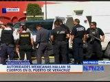 Autoridades mexicanas hallan 36 cuerpos en el puerto de Veracruz